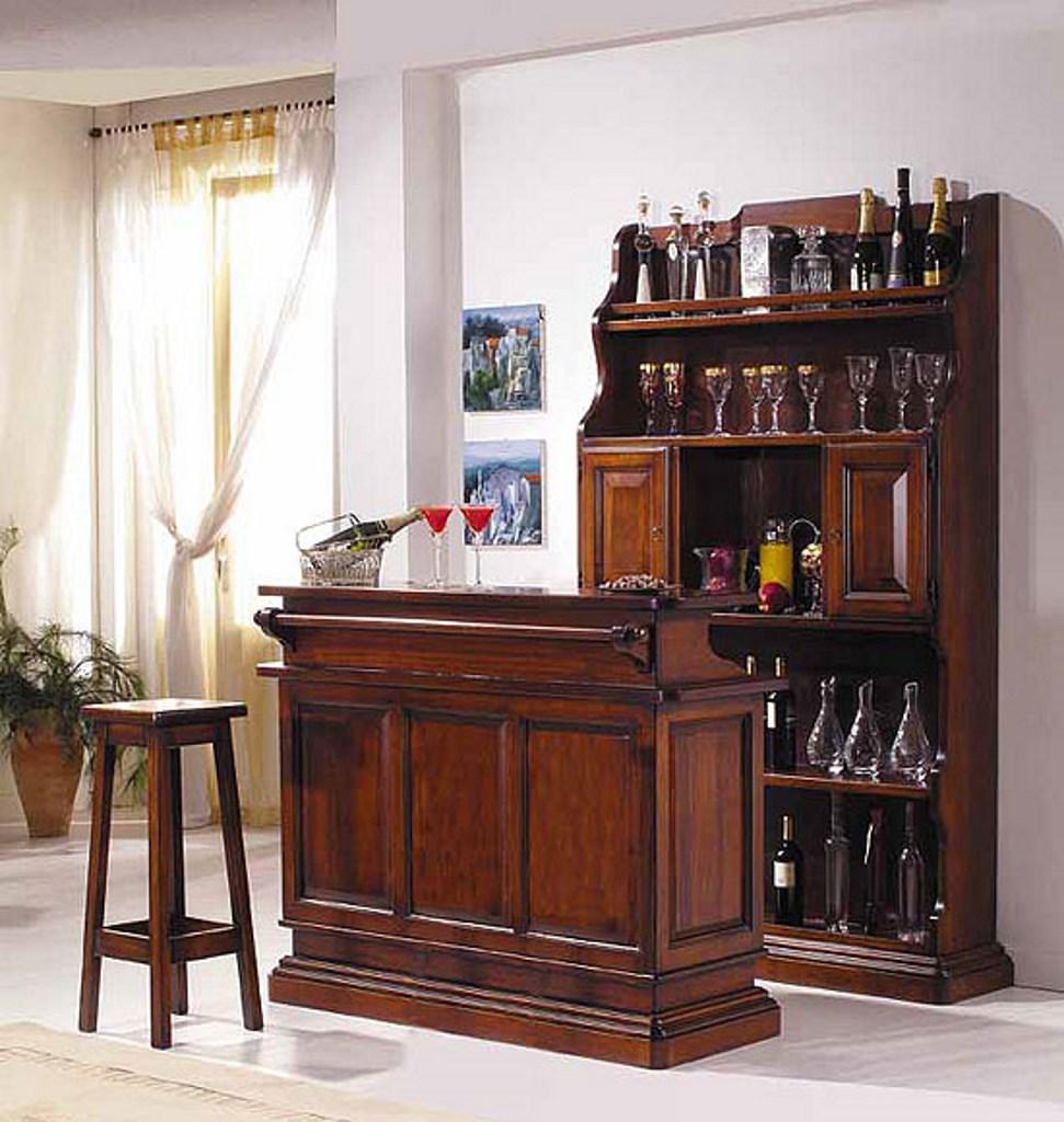 Bancone Bar Per Casa mobile bar completo di bancone e retro bancone per arredo