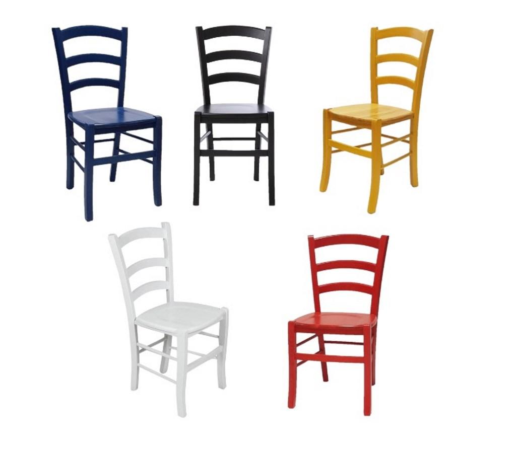 Sedie Colorate In Legno Per Arredo Bar Ristorante Trattoria Stile Rustico Classico Mobilificio Maieron Paluzza Udine Italia