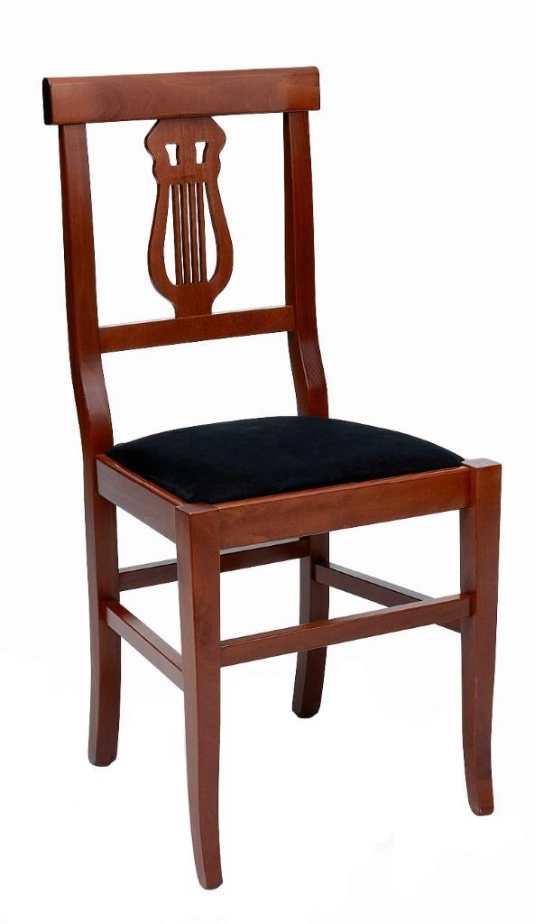 Sedie Classiche In Legno Prezzi.Sedie Classiche Lira In Legno Massello Seduta Imbottita Per Arredo