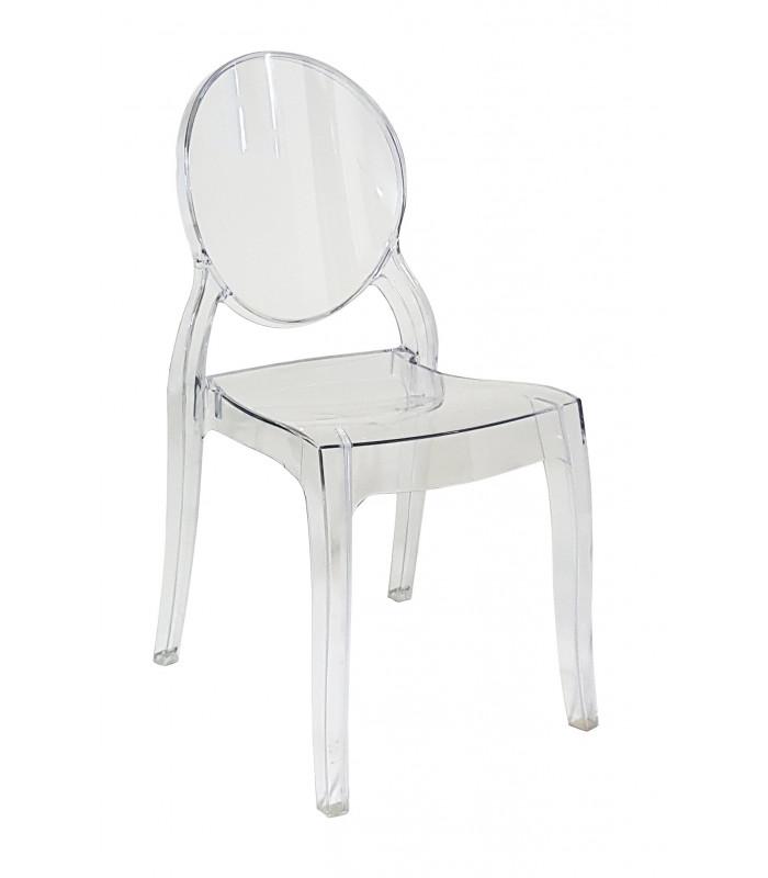 Sedia in Polipropilene Bar Ristorante Colore Bianco o Fumè ...
