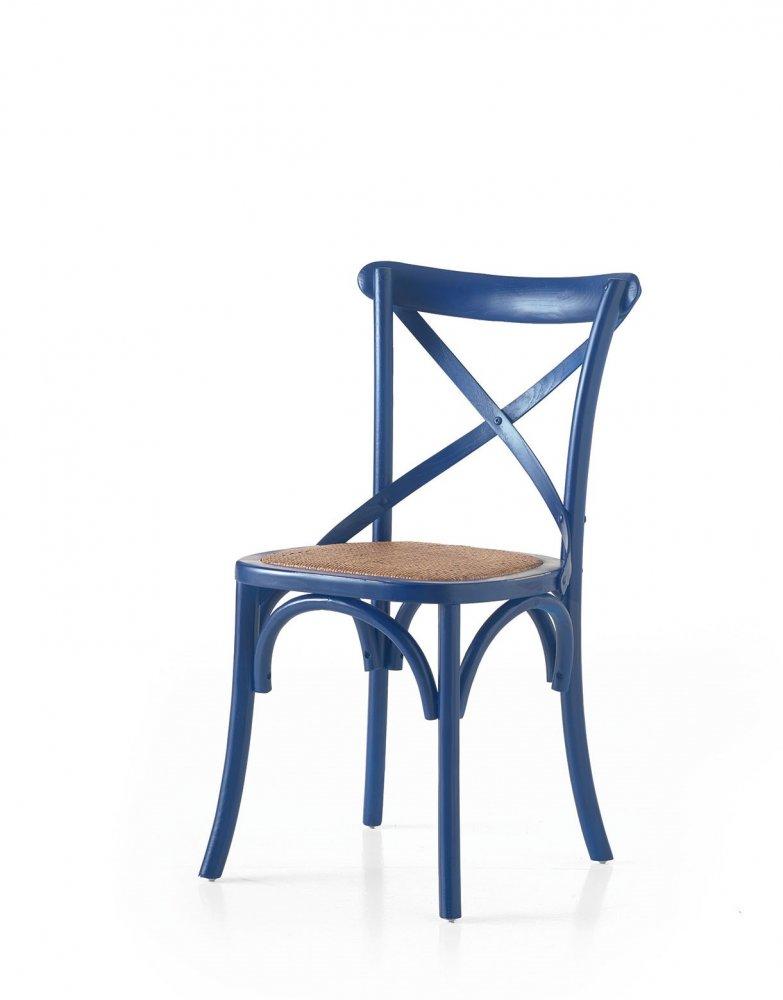 Sedie Croce Blu Per Arredamenti Bar Ristorante Stile Shabby Provenzale Mobilificio Maieron Paluzza Udine Italia