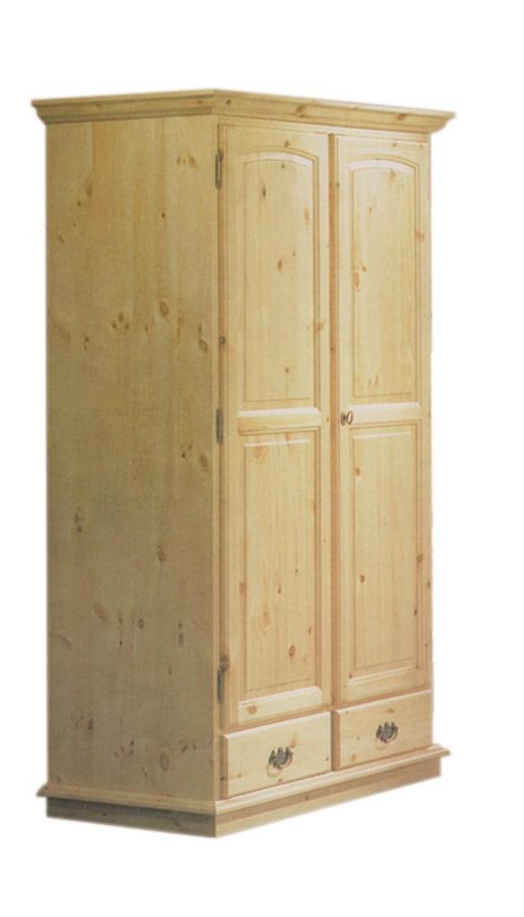 Armadio rustico in legno di pino massello 2 ante 2 ...