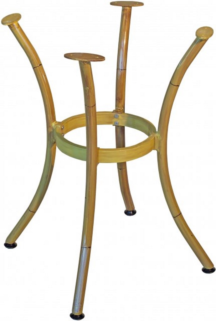 Gambe In Alluminio Per Tavoli.Base Per Tavolo In Alluminio 4 Gambe Curve Color Bambu