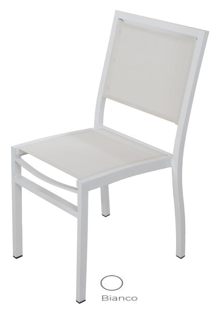Tessuto Per Sedie Da Giardino.Sedie Per Esterno In Alluminio E Tessuto Sintetico Per Arredo Bar