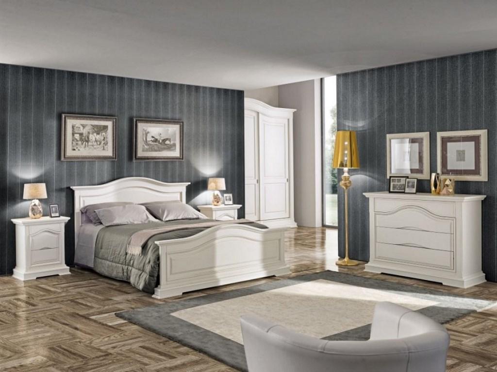 Composizione camera matrimoniale in legno bianca · Mobilificio ...