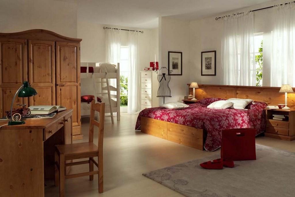 Divano Letto Matrimoniale Rustico In Legno.Camere Da Letto In Legno Per Arredamenti Contract Alberghi Hotel