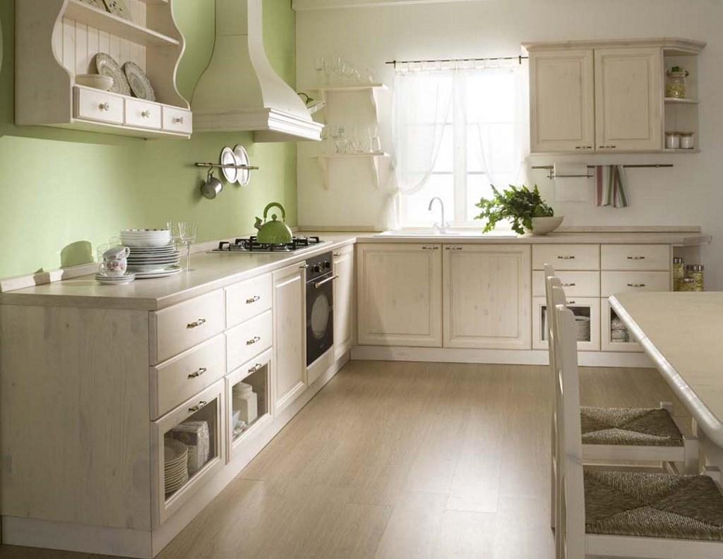 Cucina in pino massello color bianco · Mobilificio Maieron ...